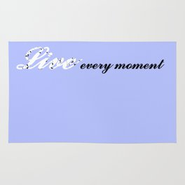 Live Every Moment (Light Blue) Rug