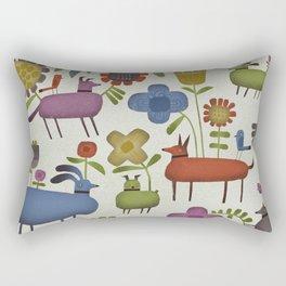 DOG GARDEN Rectangular Pillow