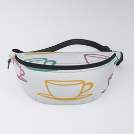 Teacups - multicolored Fanny Pack