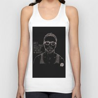 ryan gosling Tank Tops featuring Hey Girl, The Gosling by Dear Colleen