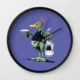 Space Duck (colour) Wall Clock