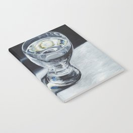 Glass of the water in the light Notebook