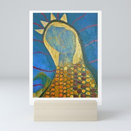 Corn Maiden Portrait Mini Art Print