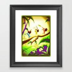 Pixel Art series 14 : Nature Framed Art Print