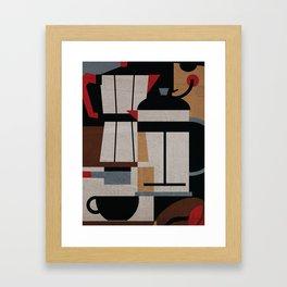 Coffee Methods Framed Art Print