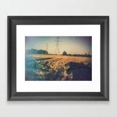 Stems and gears, oh how the daisies bloom Framed Art Print