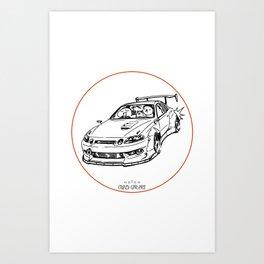 Crazy Car Art 0039 Art Print