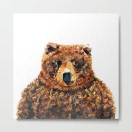 Crystal Bear Metal Print