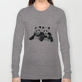 Panda Bear Pair Long Sleeve T-shirt