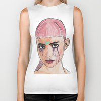 grimes Biker Tanks featuring SCREWSTON GRIMES by hipporacle