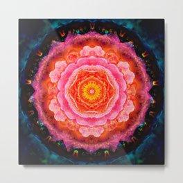 Mystical Rose Mandala Metal Print