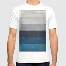Greece Hues X-LARGE Mens Fitted Tee White