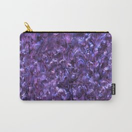 Abalone Shell | Paua Shell | Sea Shells | Patterns in Nature | Violet Tint | Carry-All Pouch