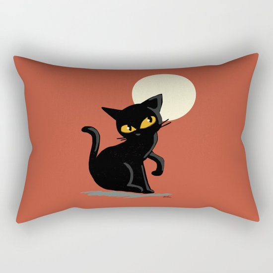 Red night Rectangular Pillow