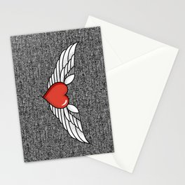 Winged Heart Stationery Cards