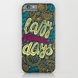 Lazy Summer Days Retro Poster iPhone Case