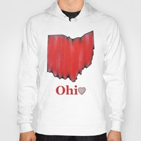 ohio state Hoodies featuring Ohio State Love by Fischer Fine Arts