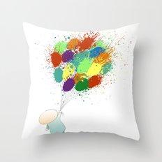 Burst! Throw Pillow