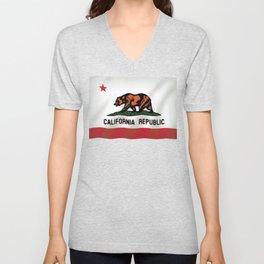 California Republic Bear Flag Unisex V-Neck