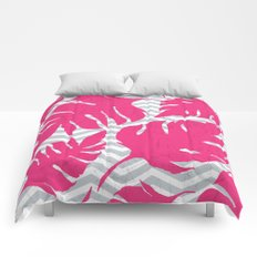 love tropical pink Comforters