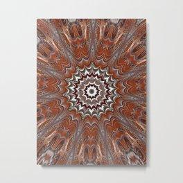 Orangga Mandala Flower Metal Print