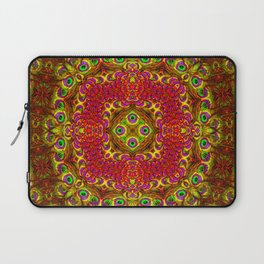 Peacock Feathers - Gold Laptop Sleeve