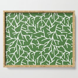 Branches - green Serving Tray
