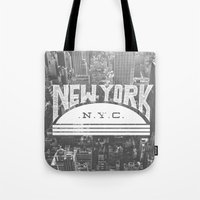 nyc Tote Bags featuring NYC by Zeke Tucker