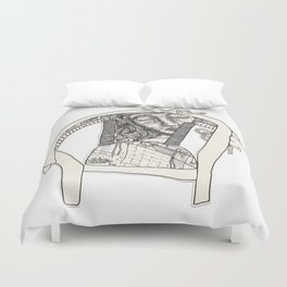 Three Sleepers - Chair Duvet Cover