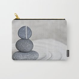 Zen cairn pebble stone balance grey Carry-All Pouch