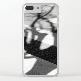zebra crossing, tree shadow Clear iPhone Case