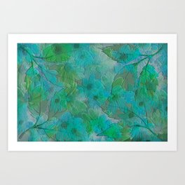 Painterly Summer Morning Floral Abstract Art Print