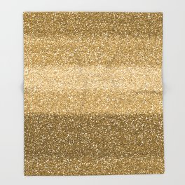 Glitter Glittery Copper Bronze Gold Throw Blanket
