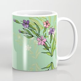 Abstract flowers with background Coffee Mug
