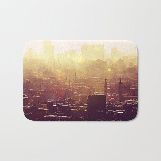 Sunset over Cairo Bath Mat