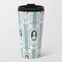 Science Women Toile de Jouy - Teal Travel Mug