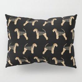 Airedale Terrier pattern minimal pet portrait dog gifts dog breeds dog lover Pillow Sham