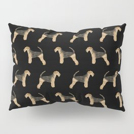 Airedale Terrier pattern minimal pet portrait dog gifts dog breeds dog lover Pillow Sham