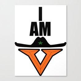 I am Vaquero Canvas Print