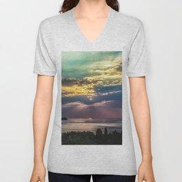 Cloudy sunrise Unisex V-Neck