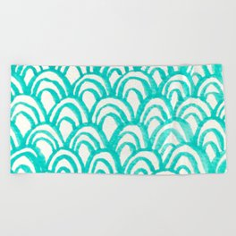 Minty Scales of the Sea Beach Towel