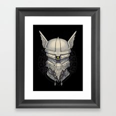 Viking robot Framed Art Print
