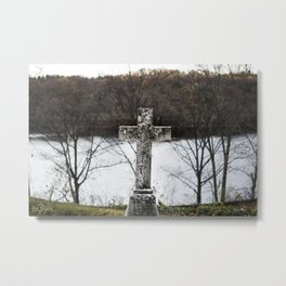 Single Cross Metal Print