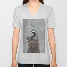 Animal Stack Unisex V-Neck