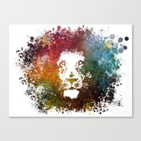 the lion king Canvas Prints featuring Lion King by jbjart