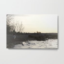 Kits Beach Sunset 1 Metal Print