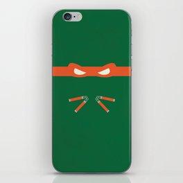 Orange Ninja Turtles Michelangelo iPhone Skin