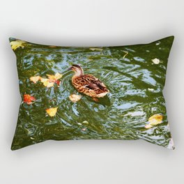 Duck in autumn Rectangular Pillow