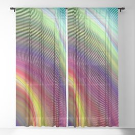 Vortex of colors Sheer Curtain