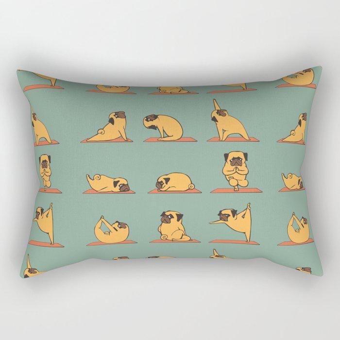 Pug Yoga Rectangular Pillow